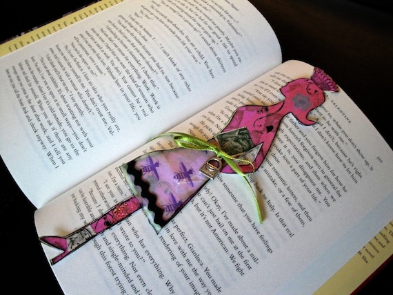Pink Lady Silhouette Doll Art Bookmark Queen