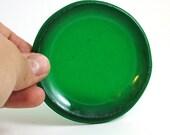 Transparent green Glass tea light candle holder small dish