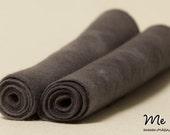 Hand-dyed Elephant Grey Pure New Wool Felt (A Grade) 1 PIECE