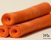 Hand-dyed Tangerine Orange Pure New Wool Felt (A Grade)
