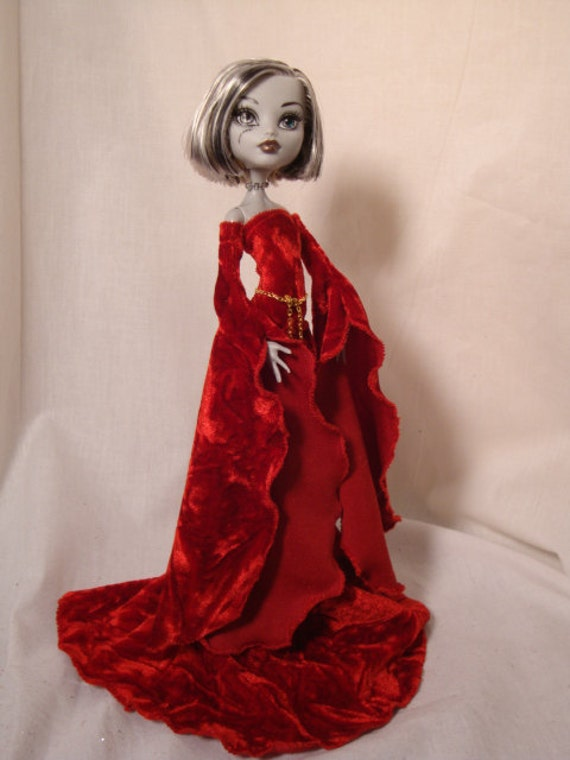 Red Medieval Gown for Monster High Doll