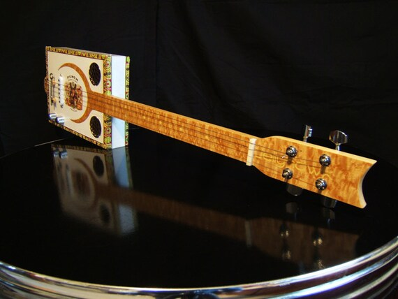 Cigar Box Electric Slide Guitar Made In Maine