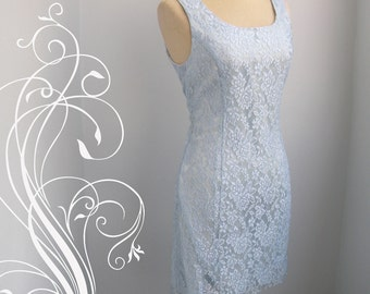 Charming Blue Lace Dress Bust  36