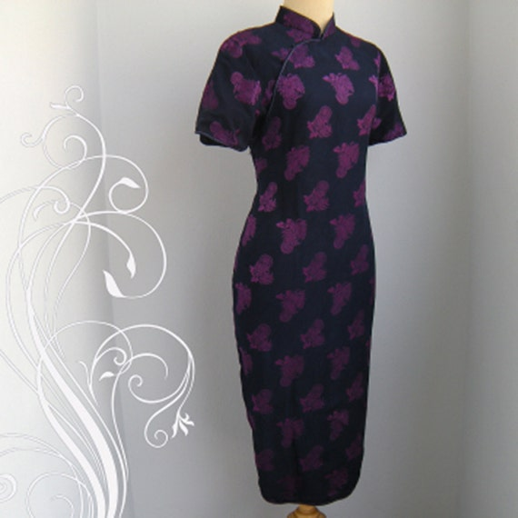 INCREDIBLE Chinese  Cheongsam Dress Bust 40 Waist 38