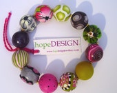 Signature No. 73 Bracelet in Polymer Clay Colourful and Original Present under 55 USD Ideal for Mother's Day