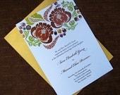 Printable Invitation and RSVP - Garden Wedding Design