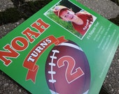 Printable Football Tailgate Birthday Photo Invitation