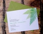Summer Fern Printable Invitation and RSVP Card Design