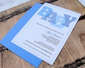 Printable Block Letters Baby Shower Invitation