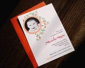 Printable Photo Invitation - Sweet Floral Frame