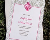 Printable Damask Invitation - Wedding, Rehearsal and more