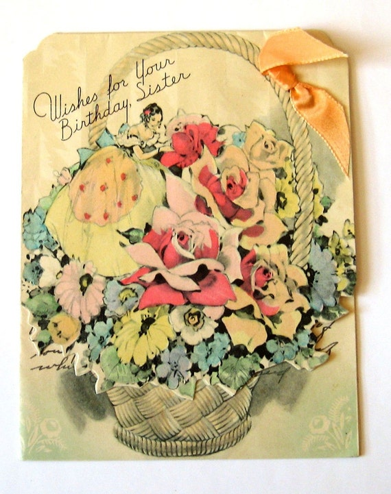 Vintage Birthday Wishes For Sister ~ Vintage birthday card wishes for your sister