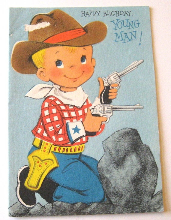 Happy Birthday Vintage Man Vintage Birthday Card Happy