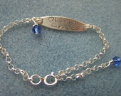 Sterling Silver Stamped Baby Bracelet sized for 9-18 mo old