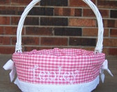 SALE: Personalized Easter Basket- Girl (26 Cute fabrics) // 2 or more FREE SHIPPING