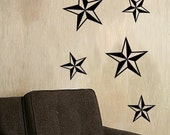 SET OF NAUTICAL STAR WALL DECALS