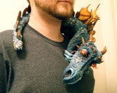 Artist Original Shoulder-Perching Dragon Sculpture & Accessory, PRICE REDUCED