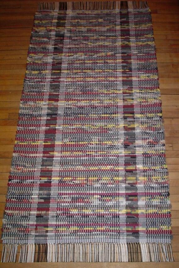 Multicolor Rust & Yellow Rag Rug