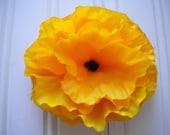 Golden Yellow Poppy Hair Clip