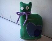 Green Love Cat