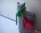 Gray Love Cat