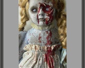 Alice Through The BROKEN Glass Original Horror Doll Alice in Wonderland from Dolly Departed