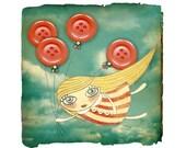 CUSTOM ITEM FOR KATHERINE- Button Balloon Girl