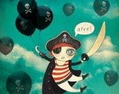 Johnny the Pirate 8.3 x 11.7 Art Print A4