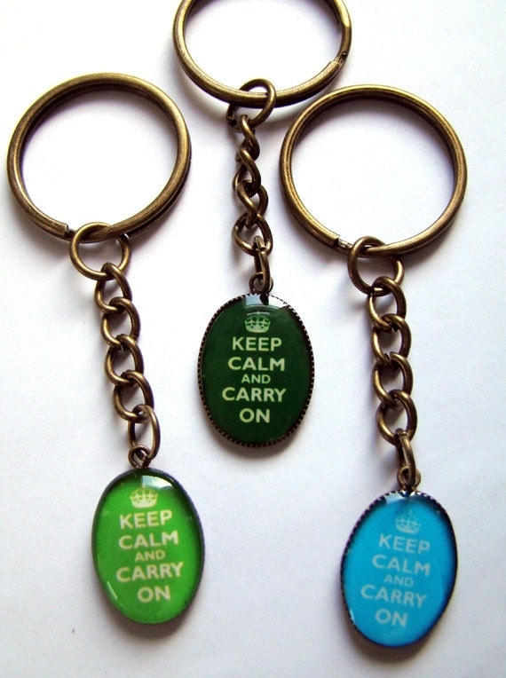 Keep Calm, Carry On Keychain