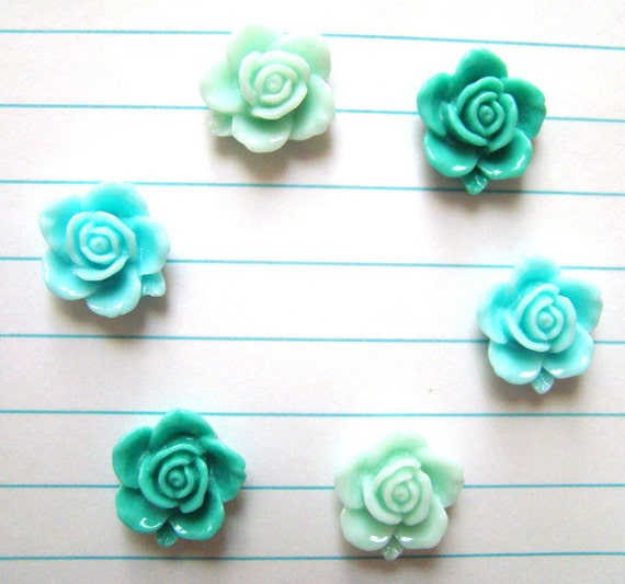 Mint Roses Fridge Magnet Set