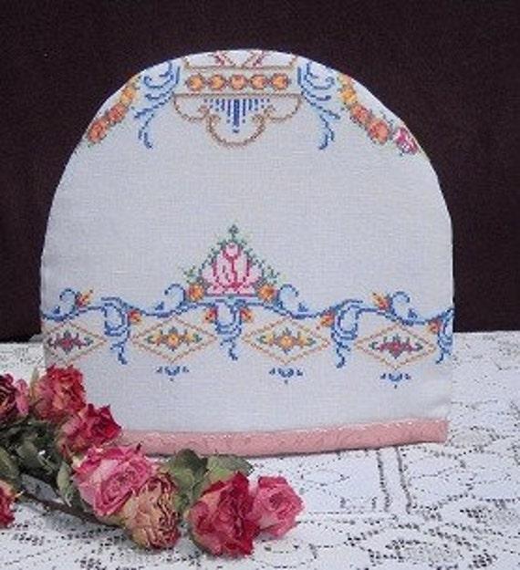 Vintage Victorian Embroidery Tea Cozy, so elegant FREE RECIPES