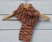 knitted scarf - desert sunset- SALE - FREE US Shipping