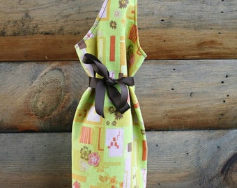 Colleen wine bag - retro lime FREE US Shipping