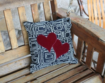 """two of hearts 14"""" decorator pillow FREE US shipping"""