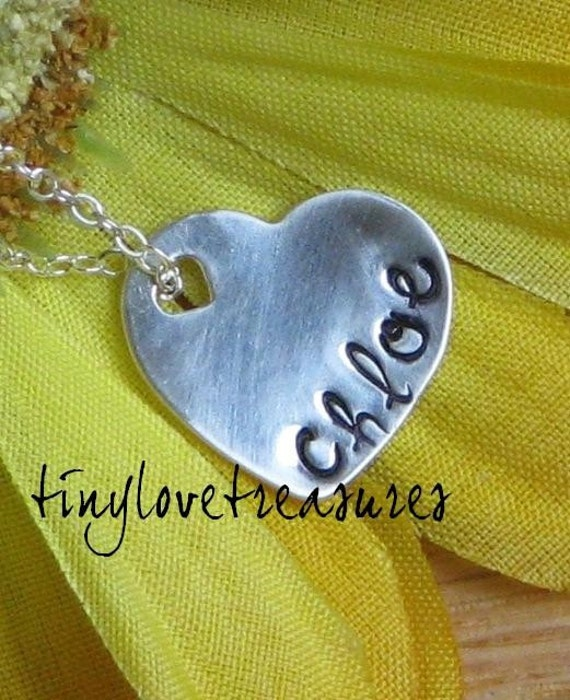 Sterling silver heart pendant and necklace