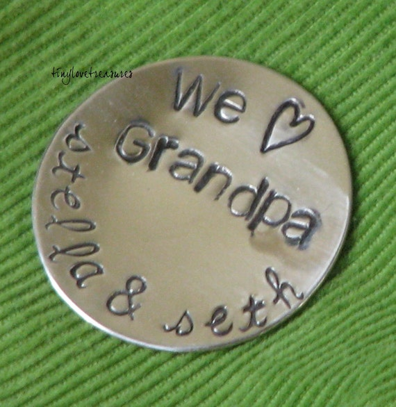 GOLF BALL MARKER, Sterling silver and personalized for you