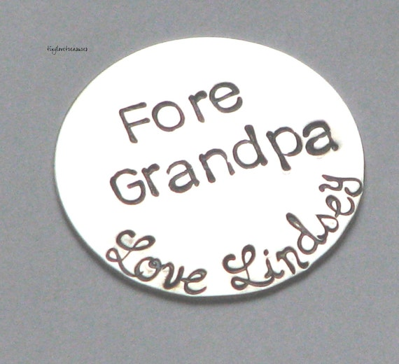 Fore You - GOLF BALL MARKER, Sterling silver and personalized for you