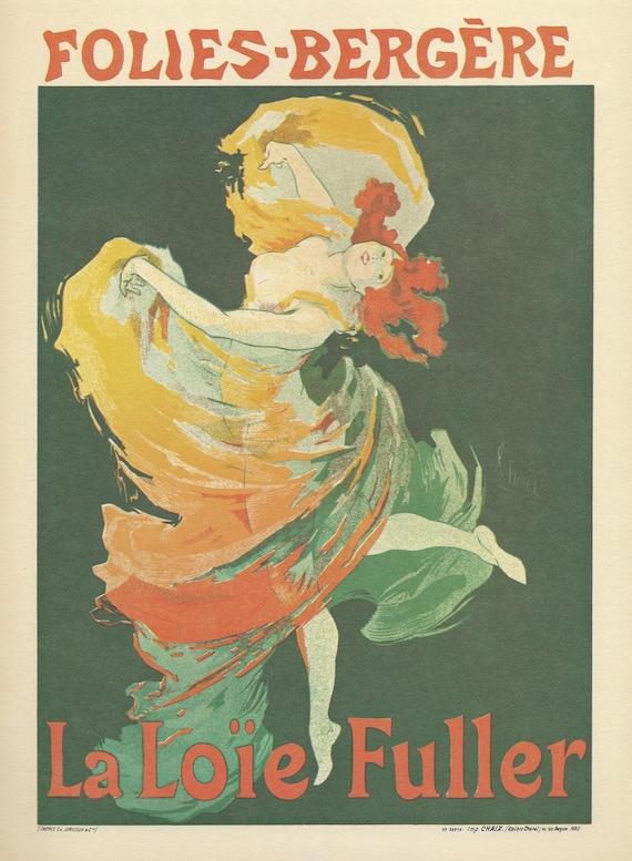 Vintage Poster, Folies-Bergere, Paris, France, 1893, by Jules Cheret