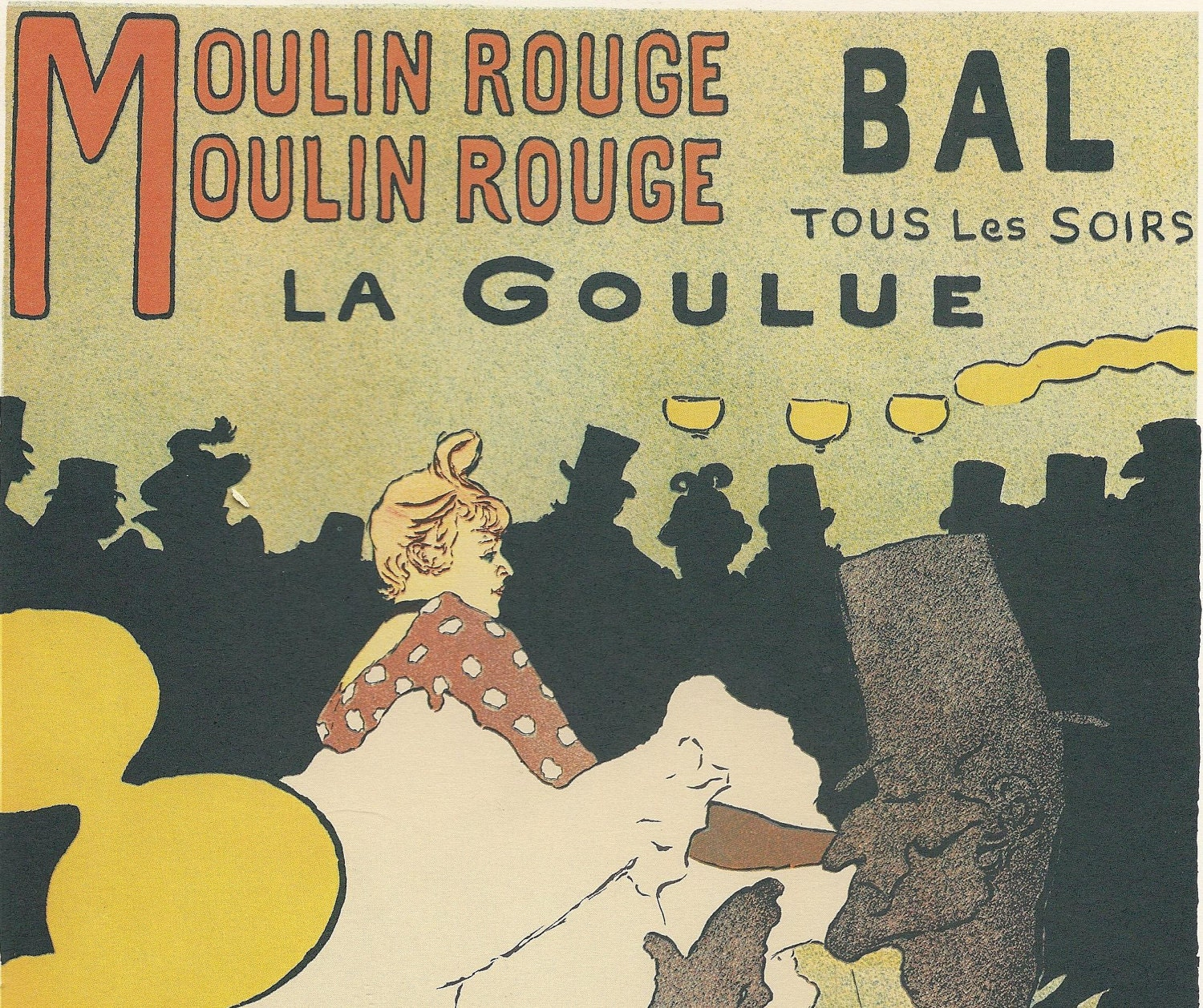Vintage Poster Moulin Rouge Paris 1898 Henri de