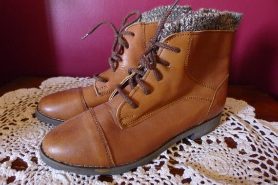 Brown Ankle Boots - Size 5.5