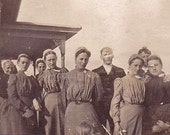 Etsyversary SALE Amish or Mennonite Religious Women RPPC