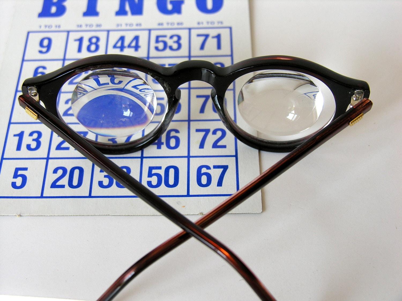 Magnifying Vintage Eyewear: Mr. Magoo Style Eye Glasses Coil