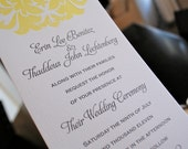 Letterpress Wedding Brocade Set, Invitation and reply card deposit