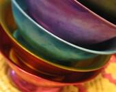 Aluminum Ice Cream Bowls-Rainbow Colors