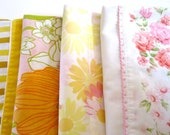 Reduced 20% Vintage Pillowcases. Pretty Pinks and Yellows