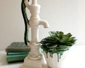 Vintage Ceramic Water Pump Planter
