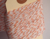 100 Yards of Orange and White Bakers Twine