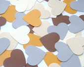 ONE DOLLAR SALE Heart Shaped Cardstock Paper Punches 40pcs // Natural