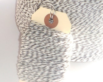 CIJ SALE Dark Brown and White Bakers Twine 25 yards