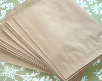 ONE DOLLAR SALE Brown Paper Merchandise Bags // 10pcs